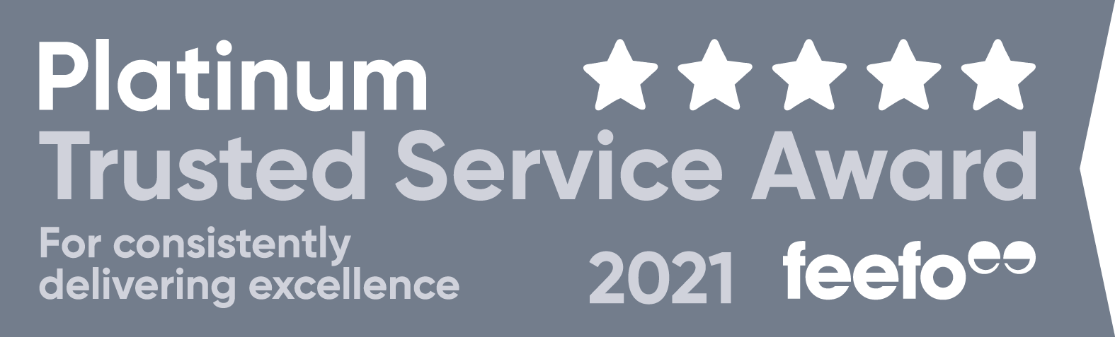 Feefo Platinum Trusted service award
