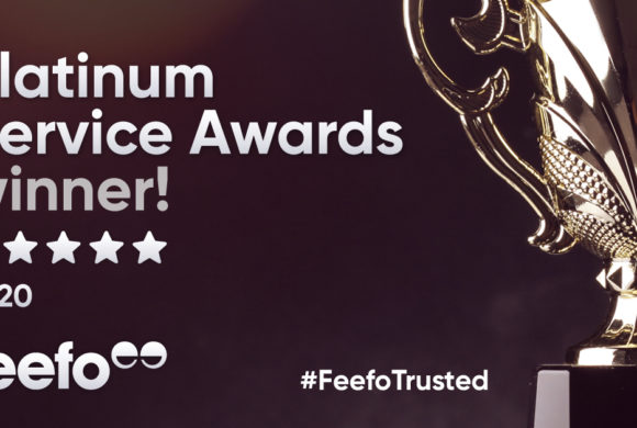 We've received the Feefo Platinum Trusted Service Award 2020